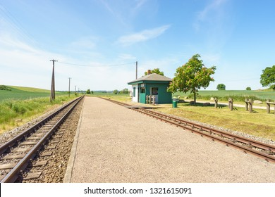 Narrow gauge railway tracks on the island of Ruegen