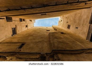 the narrow medina of fes morocco