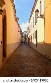 narrow old Street in la laguna.tenerife