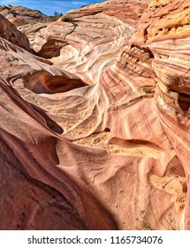 Narrow Pink Canyon in Valley of Fire, Nevada, USA