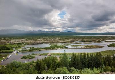 Narrow rivers, among glades