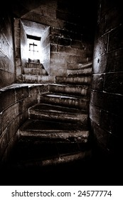 Narrow Stairs in of Castle Tower