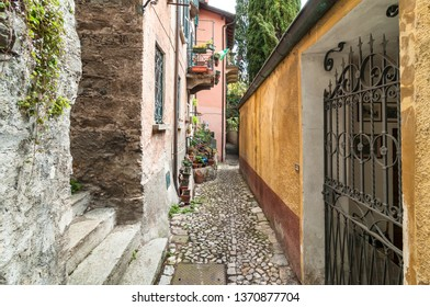 Narrow street of the ancient village Albogasio - Oria, is part of the municipality of Valsolda, in the province of Como, in the Lombardy region, Italy