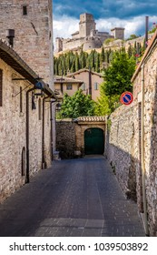 Narrow Street Of Assisi - Assisi, Province of Perugia, Umbria Region, Italy, Europe