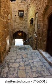 Narrow street in Old Jaffa which is one of the most ancient port cities in the world