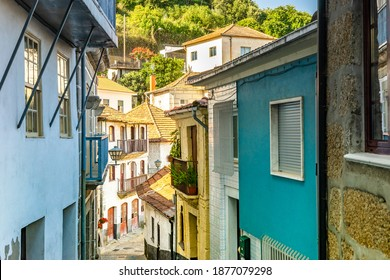 Narrow street in old town of Entre-os-Rios, Penafiel, Douro Valley, Portugal