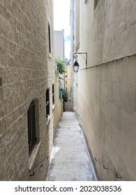 Narrow street in Paris - France