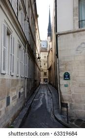 Narrow street in Paris, France