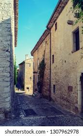Narrow street in St Paul De Vence France
