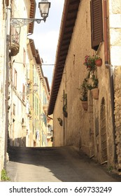 Narrow street in the village of Arpino