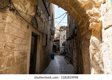 Narrow streets of ancient Acre