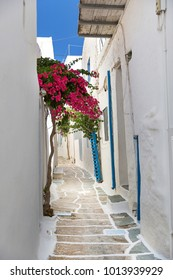 Narrow streets in Chora, Ios Island, Greece