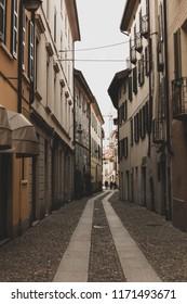 Narrow streets of Como, Italy