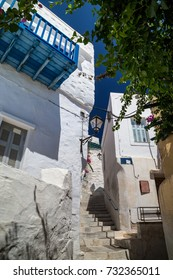 Narrow streets in Ermoupolis, Syros, Greece