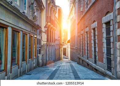 Narrow Streets of Madrid in historic city center