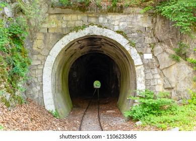 Narrow-gauge railway tunnel in Lillafured, Hungary
