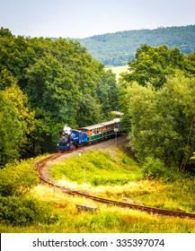 Narrow-gauge steam train