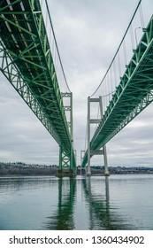 Narrows Bridge over Puget Sound in Tacoma Washington USA
