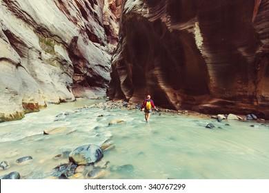 Narrows in Zion National Park, Utah