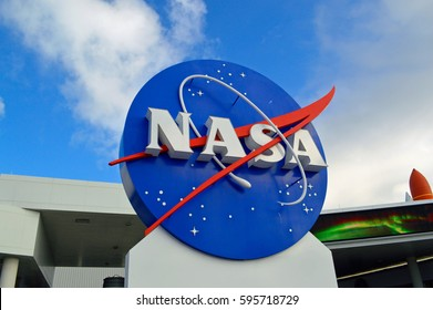 NASA logo Kennedy Space Center . 20th January 2017, For editorial use only