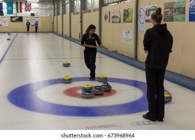 NASEBY, NEW ZEALAND - FEBRUARY, 02 2016: Naseby Indoor Curling Rink.