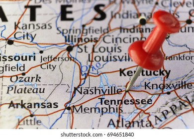Nashville capital of Tennessee, USA. Copy space available.
