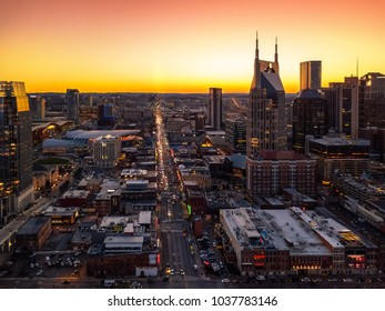 Nashville during sunset