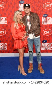 NASHVILLE - JUN 5: Kane Brown (R) and wife Katelyn Jae attend the 2019 CMT Music Awards at Bridgestone Arena on June 5, 2019 in Nashville, Tennessee.