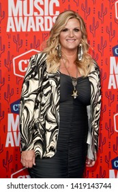 NASHVILLE - JUN 5: Trisha Yearwood attends the 2019 CMT Music Awards at the Bridgestone Arena on June 5, 2019 in Nashville, Tennessee.