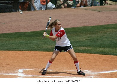 NASHVILLE – JUNE 7: Carrie Underwood plays softball at the City of Hope Charity Softball Game during the Country Music Association Festival on June 7, 2007 in Nashville.