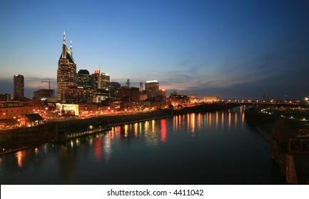 Nashville  Music City on the Cumberland River