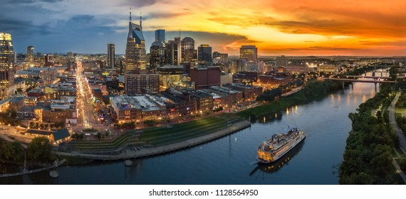 Nashville Skyline after sunset