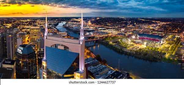 Nashville Skyline with stadium