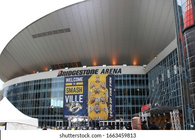 Nashville, Tenn February 15, 2020 Bridgestone Arena is a multi-purpose venue in downtown Nashville, that was completed in 1996, and is the home of the Nashville Predators of the National Hockey League