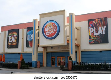 Nashville, Tenn. February 18, 2020 Dave & Busters Food and Games Restaurant.