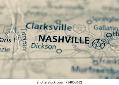 Nashville Tennessee Map Images, Stock Photos & Vectors