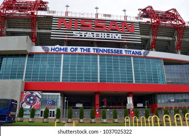 NASHVILLE, TENNESSEE - FEBRUARY 28, 2018: Nissan stadium home of the Tennessee Titans NFL football team.