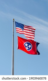 Nashville, Tennessee: United States and Tennessee flags. (November 8, 2020)