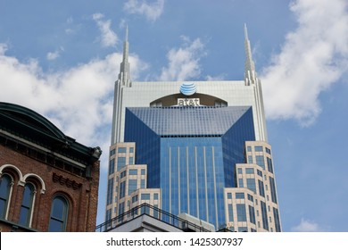 Nashville, Tennessee / USA - April 6 2019: AT&T building, also known as the Batman building
