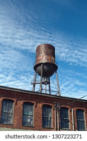 NASHVILLE, TENNESSEE, USA - CIRCA OCTOBER 2018: Water tower above the old Marathon Motor Works building