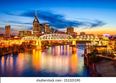 Nashville, Tennessee, USA downtown city skyline.