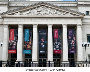 NASHVILLE, TENNESSEE, USA - MARCH 19, 2018: Schermerhorn Symphony Center entrance located at downtown Nashville. It`s a concert hall for many venues. Ground was broken for construction on Dec 03, 2018
