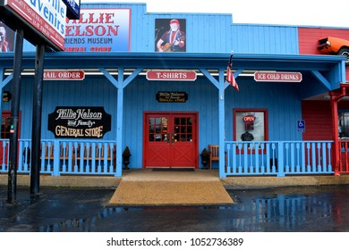 NASHVILLE, TENNESSEE, USA - MARCH 20, 2018: Willie Nelson and Friends museum and general store. World famous for over 38 years. Main attraction for many visitors to Nashville, Tennessee.