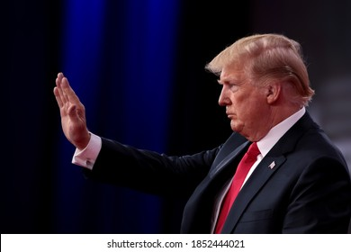 Nashville, Tennessee / USA - November 6, 2020: US Election,Donald Trump yet to offer concession speech as Joe Biden becomes the 46th president of the United States after Presidential Debate