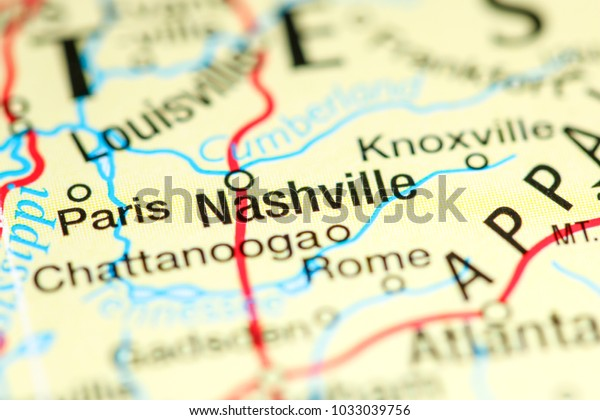 Nashville Tennessee Usa On Map | Miscellaneous Stock Image