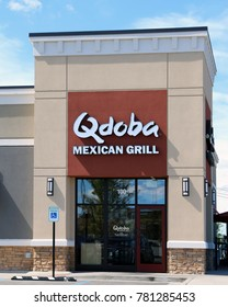 NASHVILLE, TENNESSEE-DECCEMBER 23, 2017:  New Qdoba Mexican Grill restaurant. Qdoba is a market leader in the fast casual Mexican restaurant market segment.