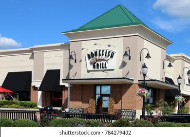 NASHVILLE, TENNESSEE-DECEMBER 30, 2017:  Bonefish Grille is a chain of upscale restaurants featuring fresh seafood.  They have 215 locations throughout the USA.