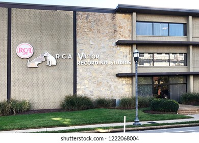 NASHVILLE, TENNESSEE-OCTOBER 29, 2018:  Historic RCA Victor Recording Studios on Music Row in Nashville.  Elvis and Dolly Parton recorded here at one time.