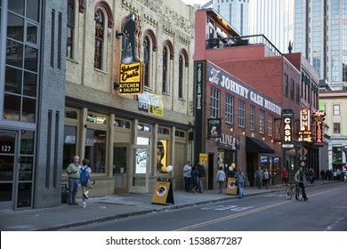 """""""Nashville, Tennessee/USA- 10/22/2019: Johnny Cash Museum and restaurant"""""""