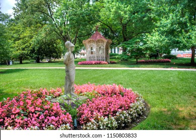 Nashville, Tennessee/USA - July 2015: Beautiful campus of Belmont University, a private Christian liberal arts university.